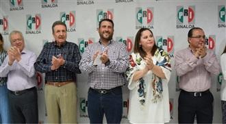 JOSÉ MANUEL CERVANTES CASTRO Y ADELAIDA AYÓN LARES DIRIGENCIA PROVISIONAL DEL CDE DEL PRI EN SINALOA width=