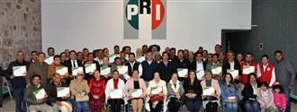 RECONOCE EL PRI TRABAJO DE DELEGADOS MUNICIPALES Y DISTRITALES width=