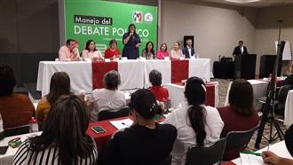 "ONMPRI SINALOA REALIZA TALLER ""MANEJO DEL  DEBATE POLÍTICO"" width="