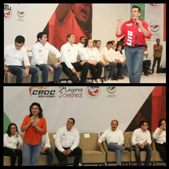 Realiza Red Jóvenes X México foro con candidatos a dirigir el CEN del PRI width=