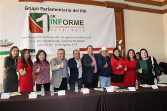 Reconoce CDE del PRI excelente labor de diputados en Congreso del Estado width=