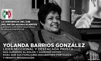 HOMENAJE EN EL PRI DE AGUASCALIENTES A LA TRAYECTORIA DE YOLANDA BARRIOS GONZÁLEZ CON MÁS DE 30 AÑOS DE MI... width=