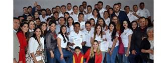 RINDEN PROTESTA DIRIGENTES DE LA RED JÓVENES X MÉXICO EN LA CAPITAL width=