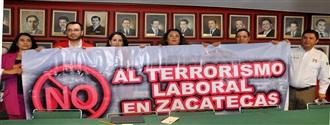 BASTA DE TERRORISMO LABORAL, EXIGE EL PRI width=
