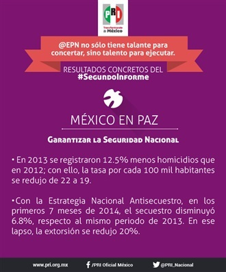 SEGUNDO INFORME EPN. MÉXICO EN PAZ
