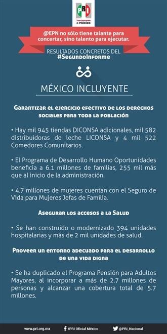 SEGUNDO INFORME EPN. MÉXICO INCLUYENTE