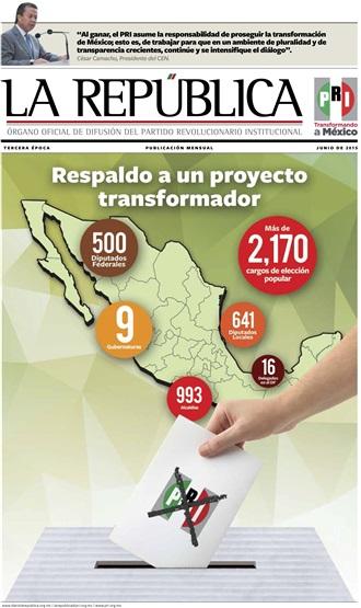 JUNIO/ 2015 / TERCERA ÉPOCA / RESPALDO A UN PROYECTO TRANSFORMADOR
