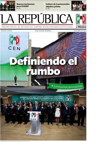 OCTUBRE/ 2015 / TERCERA ÉPOCA /DEFINIENDO EL RUMBO